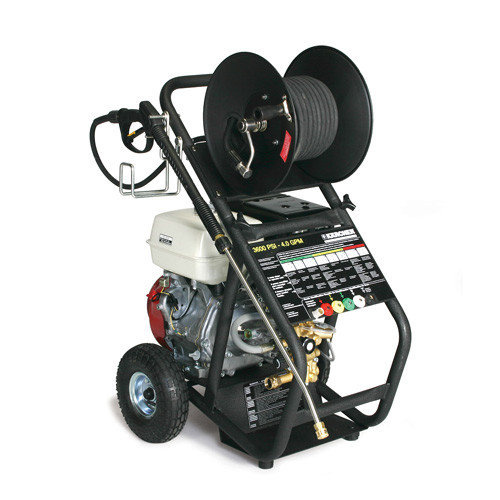 Shark Pressure Washers KG Series 4.0 GPM Honda GX390 Cold Water Pressure Washer with Hose Reel