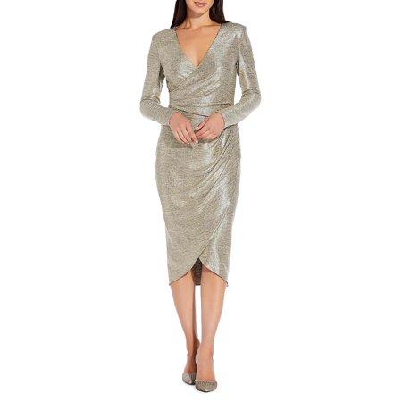 V-Neck Wrap Dress (Cocktail Dress Adrianna Papell)