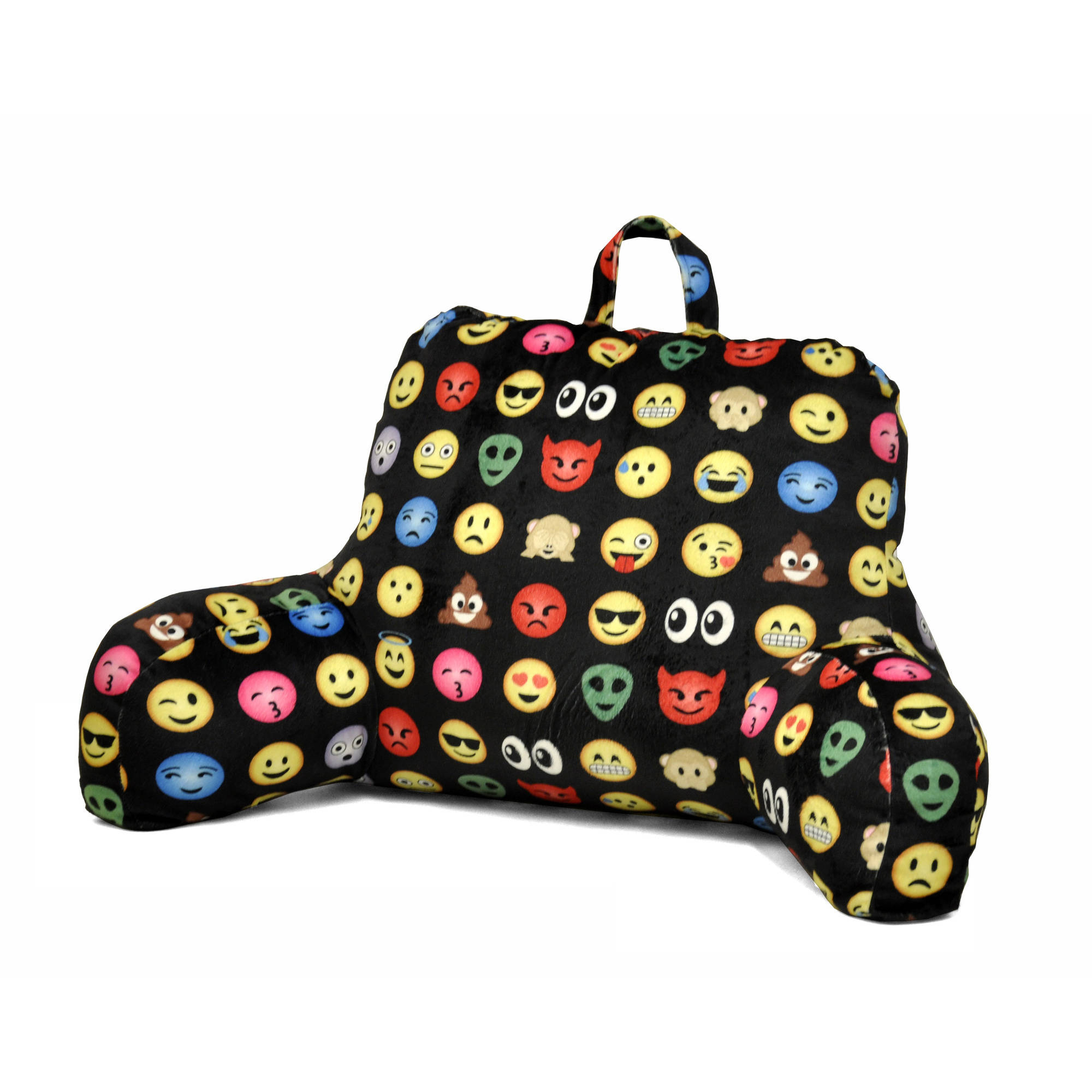 Emoji Pals All Over Backrest Pillow by Idea Nuova