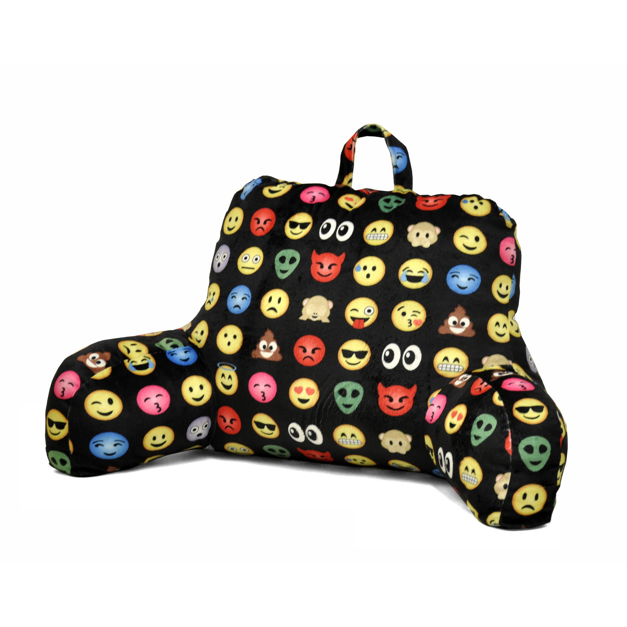 Bed rest pillow walmart - Emoji All Over Backrest Pillow