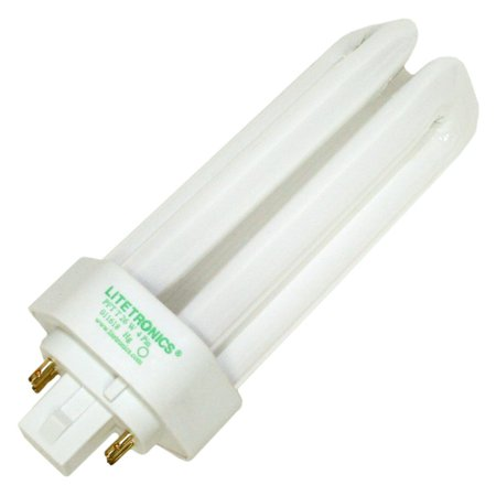 42w T4 Gx24q 4 Base - Litetronics 59760 - L-12273 26W T4 T GX24Q-3 4100K 4-PIN Triple Tube 4 Pin Base Compact Fluorescent Light Bulb