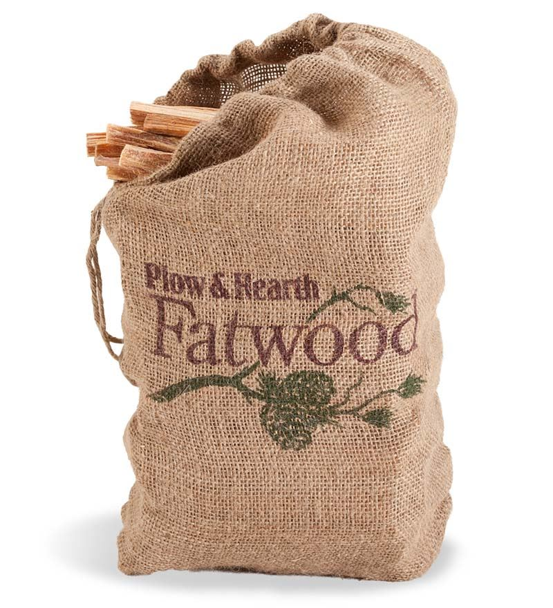 Easy-Start Fatwood Fire Starter, 12 lb. Bag of Fatwood by Problem Solvers