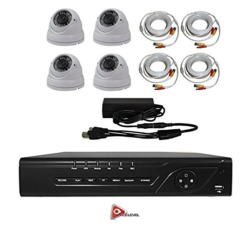 AceLevel 8 Channel HD AHD DVR Kit with 1TB and 4 x 720p Night Vision Weatherproof Dome Cameras