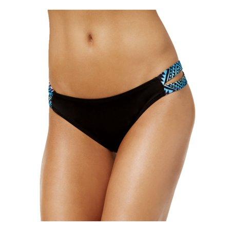 be3a35bd6e Sundazed Women s Sasha Strappy Bikini Bottom Black Print M - Walmart.com