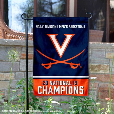 - University of Virginia 2019 NCAA National Champions Double Sided Garden Flag