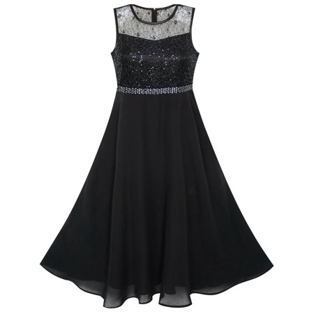 Girls Dress Rhinestone Chiffon Bridesmaid Dance Ball Maxi Gown 6 - Dance Dresses For Tweens