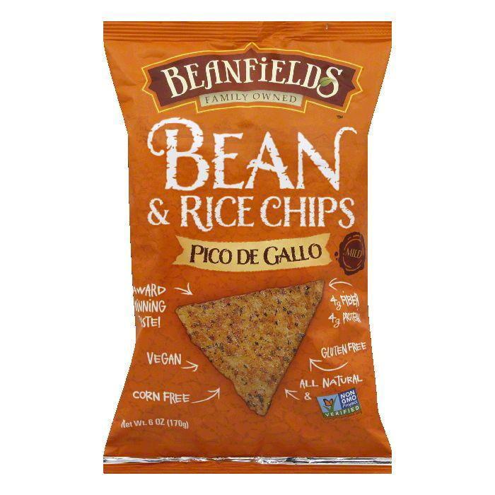 Beanfields Mild Pico De Gallo Bean and Rice Chips, 6 Oz (...