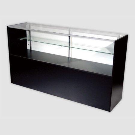 - RETAIL GLASS DISPLAY CASE HALF VISION BLACK 5' SHOWCASE