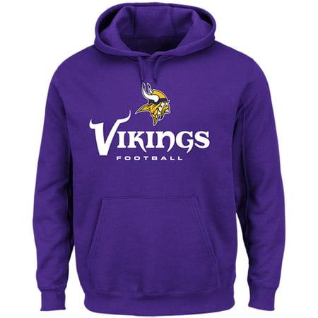 Men's Majestic Purple Minnesota Vikings Our Team Pullover Hoodie