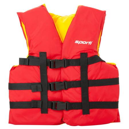 Sporti Youth Uscg Life Jacket 50-90 Lbs