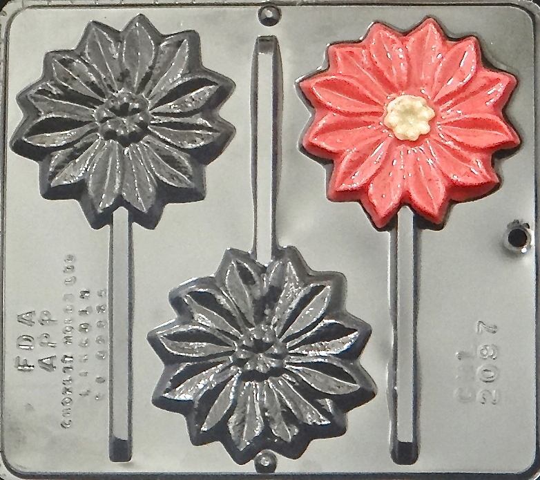 3 Pack 1 Design Silicone Candy Mold-Christmas Poinsettia 9 Cavity