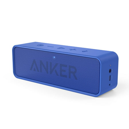 Anker SoundCore Bluetooth Speaker with 24-Hour Playtime, 66-Foot Bluetooth Range & Built-in Mic, Dual-Driver Portable Wireless Speaker with Low Harmonic Distortion and Superior