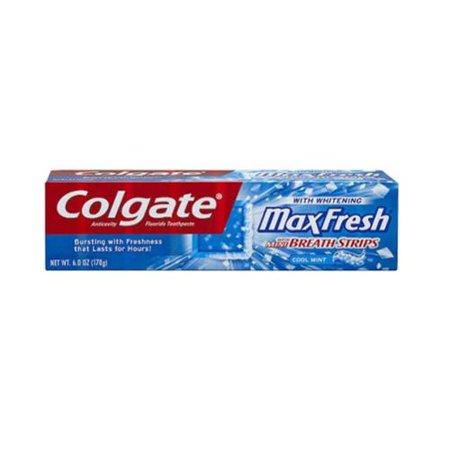 Colgate Max Whitening frais Dentifrice Mini bandes de souffle, menthe fraîche (6 oz pack de 3)