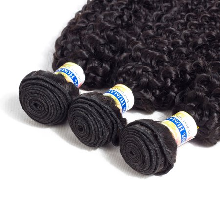 YYONG Hair Company Brazilian Kinky Curly Hair Weave 3 Bundles Unprocessed Virgin Hair,