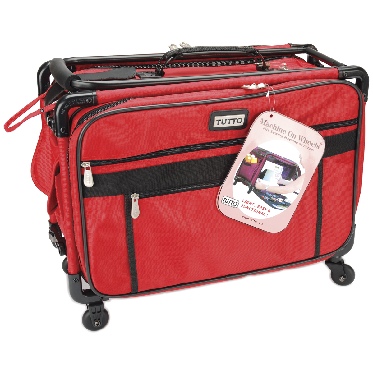 "TUTTO Machine On Wheels Case-20""X13""X9"" Red"