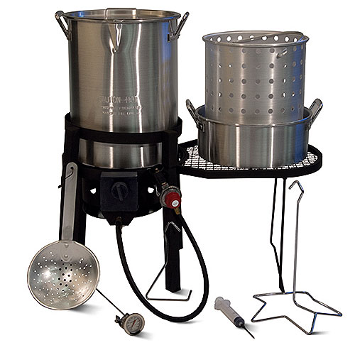 Backyard Turkey Fryer and Boil Combo with Side Table