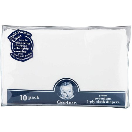 Gerber Prefold Premium 5-Ply Cloth Diapers - 10pk