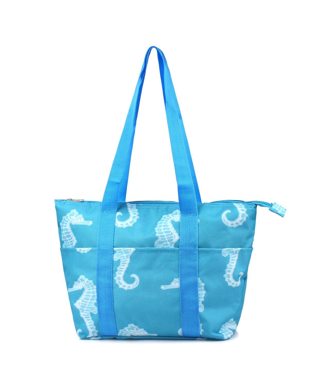 Zodaca Fashion Large Women Handbag Insulated Lunch Tote Zipper Double Handles Carry...