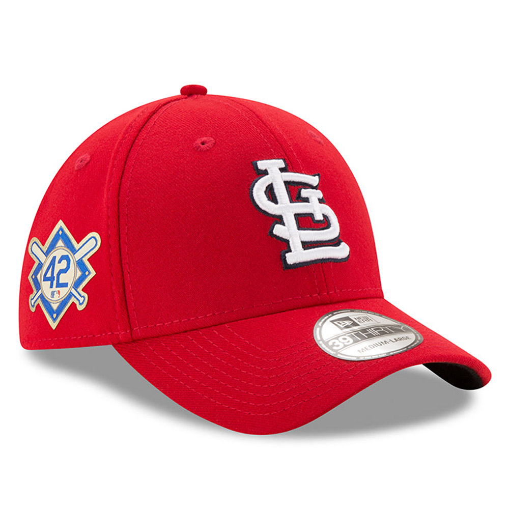 ... fitted hat 5191a 22deb  coupon for product image st. louis cardinals new  era 2018 jackie robinson day 39thirty flex a6d10cf83244