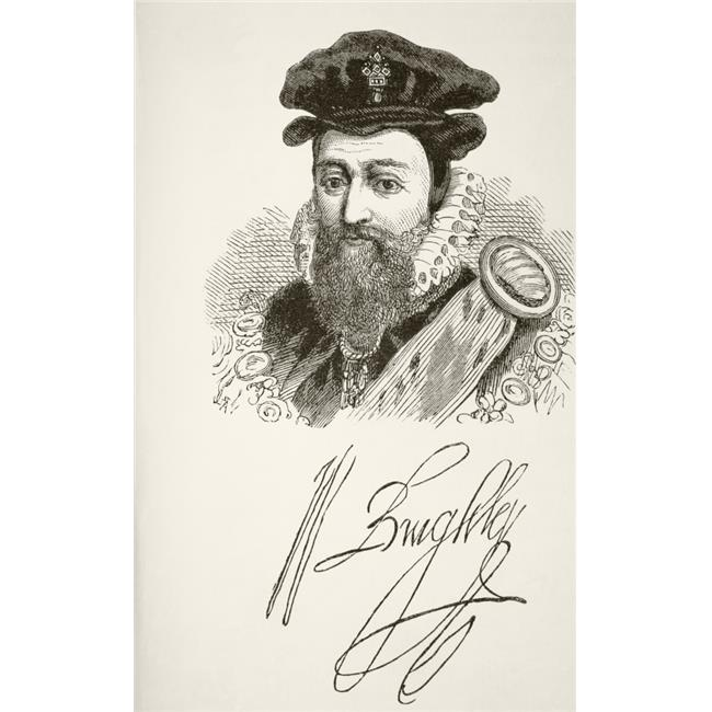 Posterazzi DPI1855840LARGE William Cecil 1St Baron Burghley 1520 To 1598 English Statesman & Chief Advisor To Queen Elizabeth I His Signature A Poster Print, Large - 22 x 36 - image 1 de 1