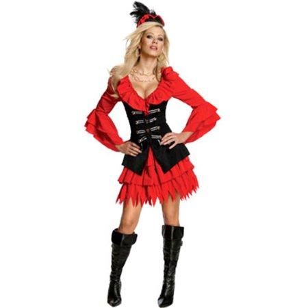 Women's Adult  Treasure Chest Pirate Costume - Treasure Island Pirate Costume