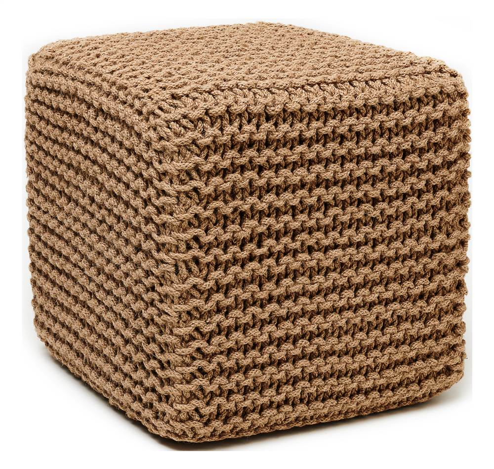 Natural Jute Pouf Square