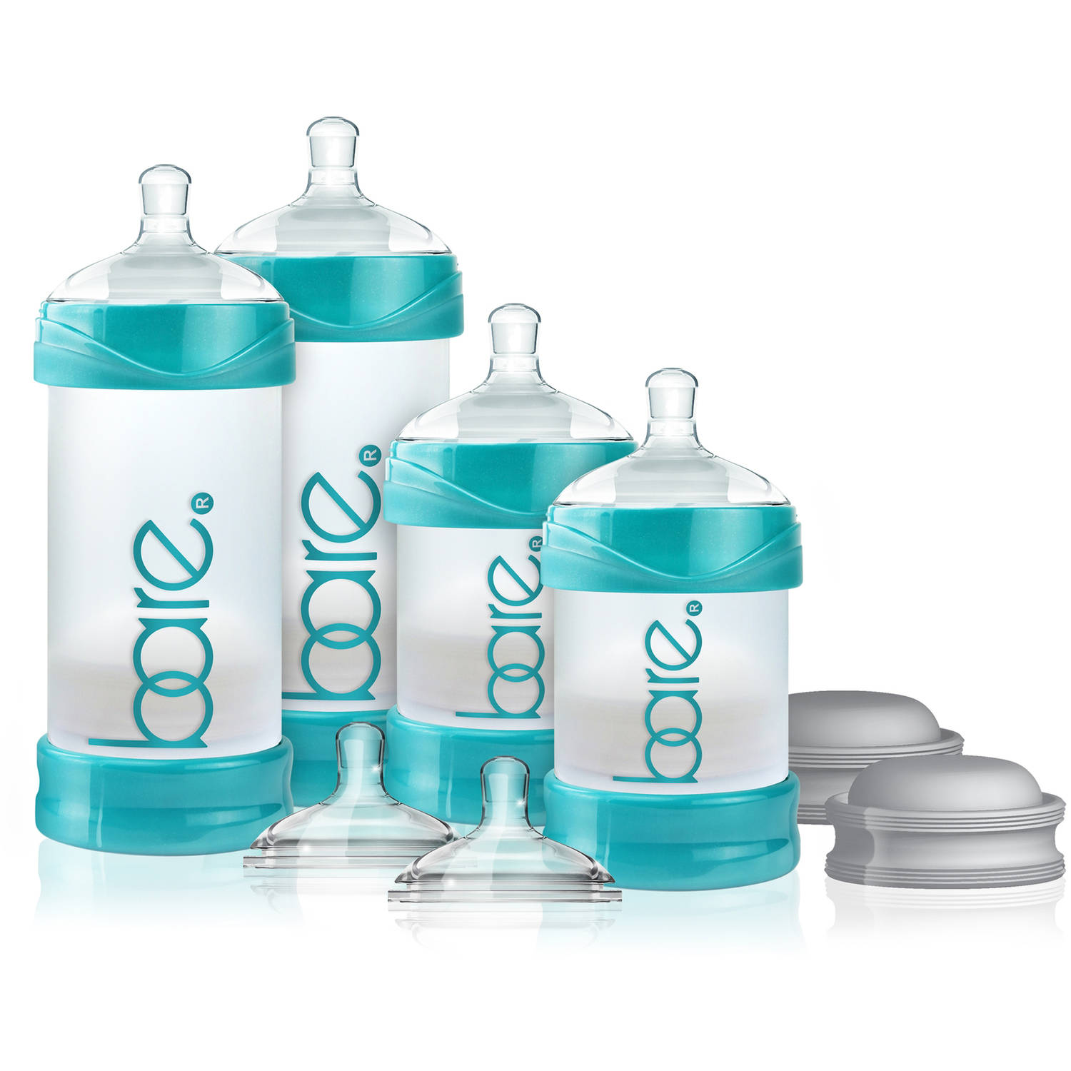 BARE Air-free Starter Set with Easy-latch Nipples, Air-free, Anti Reflux, Anticolic by BARE AIR-FREE FEEDING SYSTEM