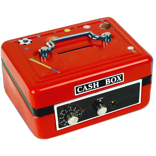 Personalized Sports Cash Box