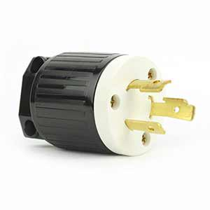 Superior Electric YGA023 Twist Lock Electrical Plug 3 Wire, 20 Amps, 250V, NEMA L6-20P ()