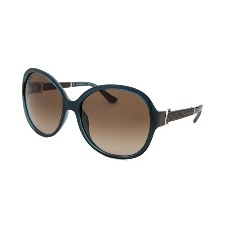 Salvatore Ferragamo Sf764sl-321-59 Women's Round Blue  Sunglasses