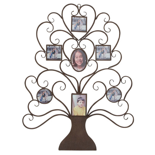 EC World Imports Family Tree Picture Frame Large 40'' Metal Art Wall Decor by EC World Imports