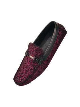 f7535d6b4a5 Product Image Amali Mens Two Toned Metallic Striped Dress Loafer Driving  Shoe Style Tifton Available in Fuschia