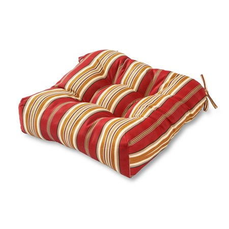 Avenue Stripe - Roma Stripe Stripe 20 in. Square Plush Outdoor Chair Cushion