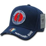 RapDom U.S. National Guard Round Emblem Deluxe Mens Cap [Navy Blue - Adjustable]