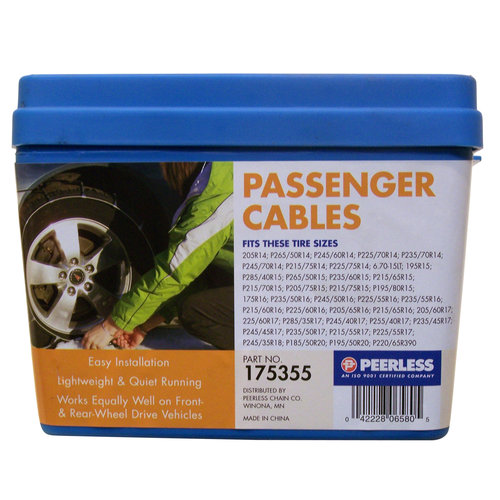 Peerless Winter Track Passenger Car Tire Cables, #175355