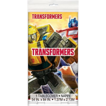 Plastic Transformers Party Tablecloth, 84 x 54in - Transformers Birthday