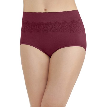 Vanity Fair Womens No Pinch-No Show Seamless Brief Panty, 9, Speakeasy (Vanity Fair Classic Panties)