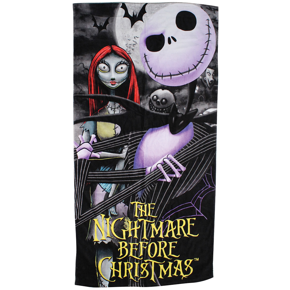 Disney Nightmare Before Christmas Moonlighting Jack Sally Cotton Towel 28x58