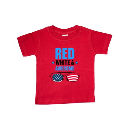 Red White & Awesome with Sunglasses Baby T-Shirt (Awesome Sunglasses)