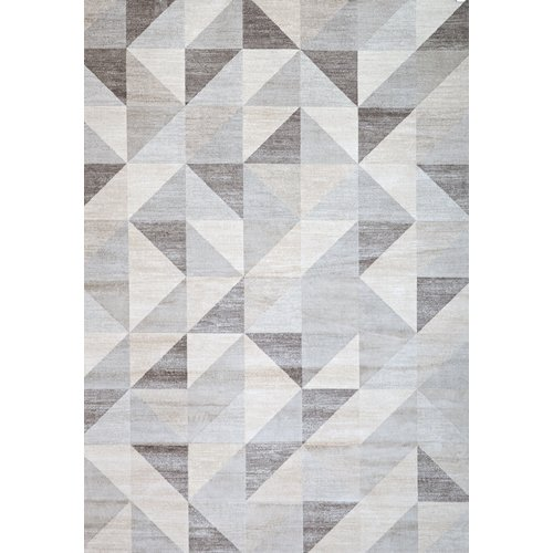 Wildon Home   Sonoma Grey/White Area Rug