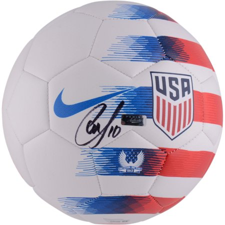 Christian Pulisic Team USA Autographed 2018 White Soccer Ball - Panini Authentic - Fanatics Authentic Certified