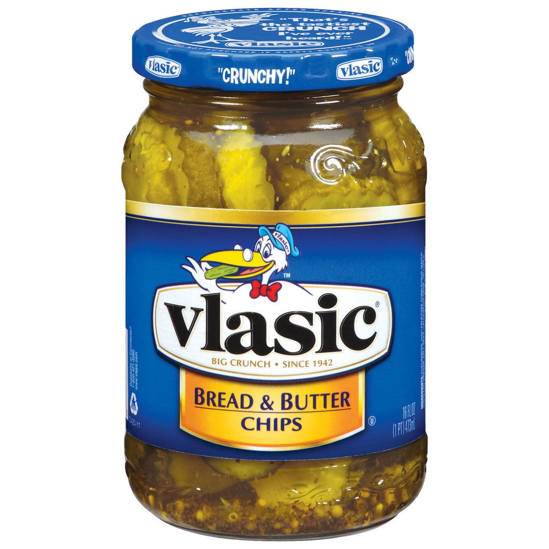 Vlasic Bread & Butter Chips Pickles 16 Fl Oz Jar
