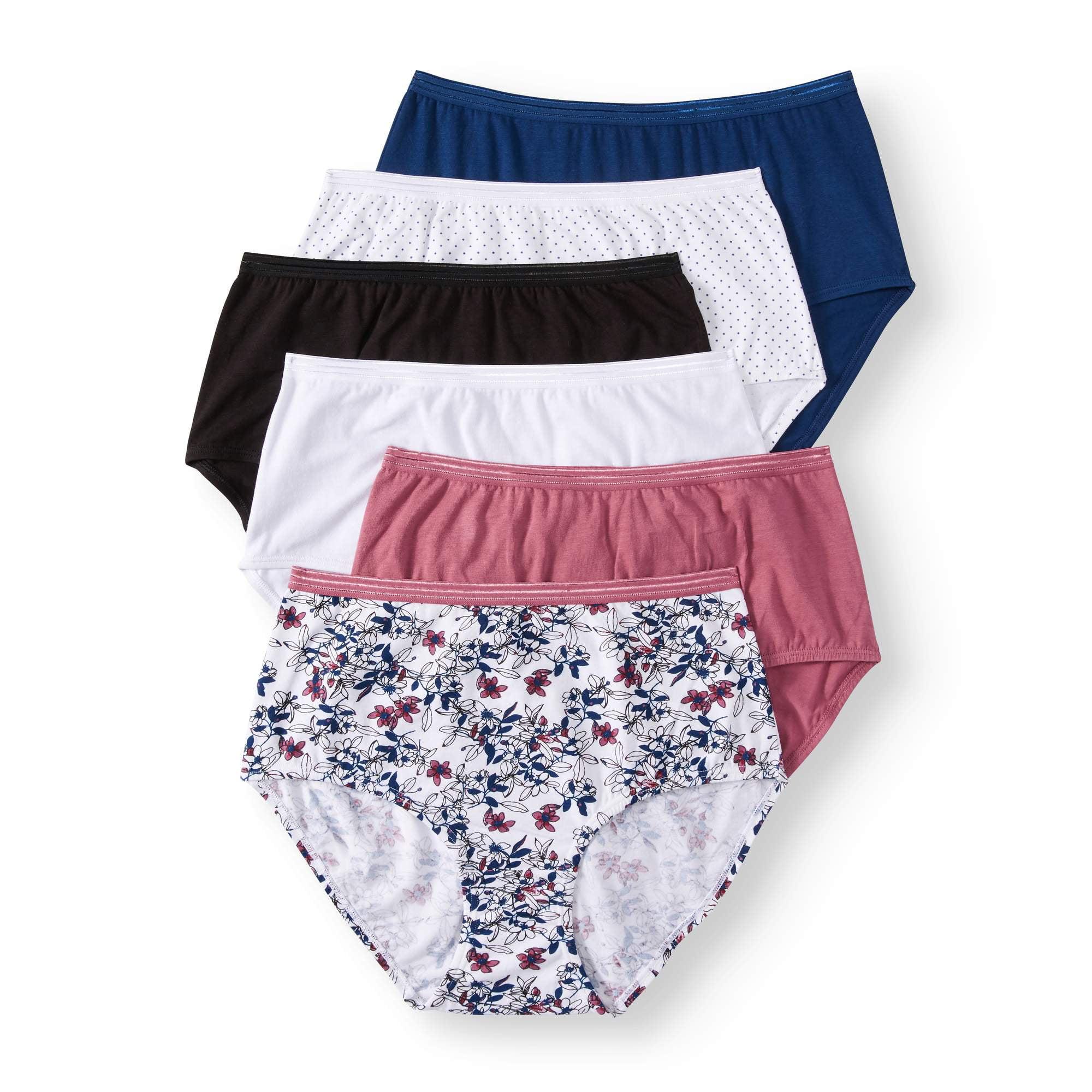 100/% cotton white 6-pk Women/'s underwear: Secret Treasures briefs extra soft