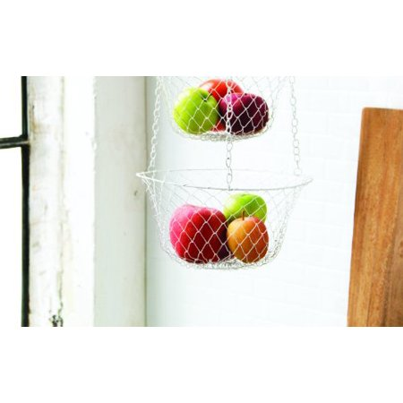 3 Tier Hanging Kitchen Storage Basket for Fruits & Vegetables Easy to (3 Tier Hanging Fruit Vegetable Kitchen Storage Basket)