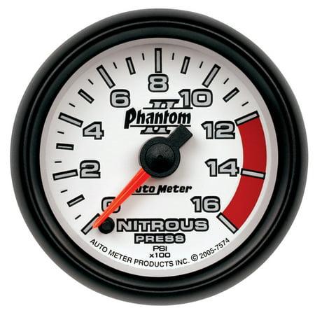 - AutoMeter 7574 Phantom II Electric Nitrous Pressure Gauge