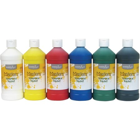 Handy Art, HAN882722, Masters Tempera Paint, 6 / Set
