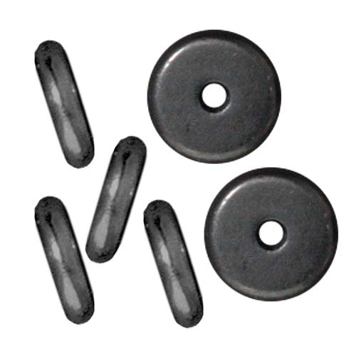 Black Finish Lead-Free Pewter Disk Heishi Spacer Beads 7mm (10)