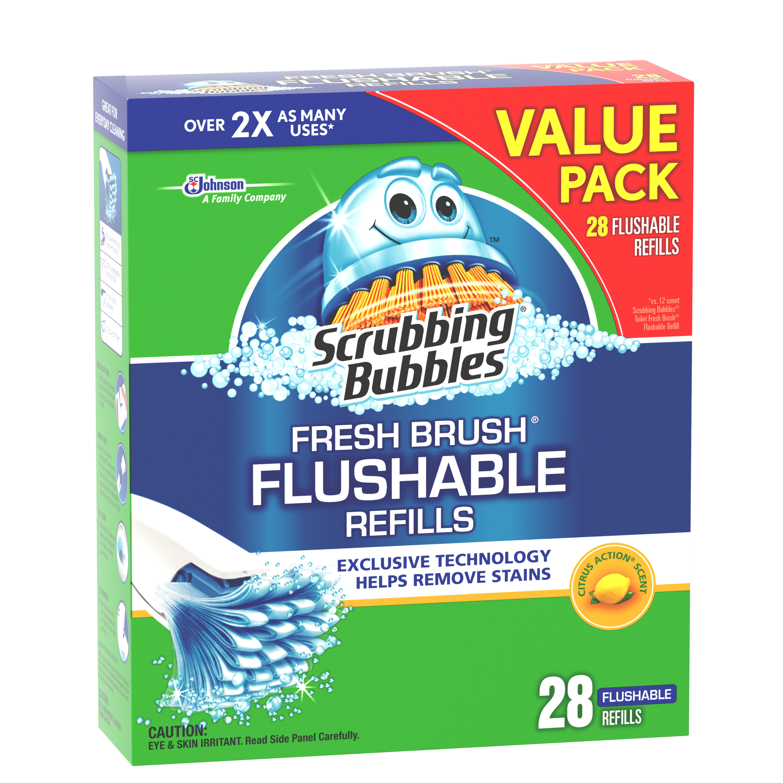 Scrubbing Bubbles Fresh Brush Flushables Refill, Citrus Action Scent, 28 count