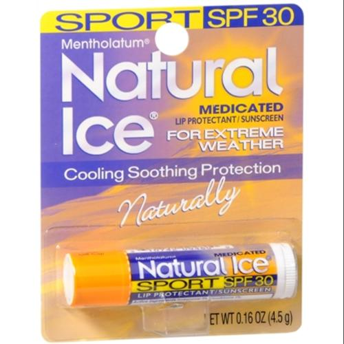 Mentholatum Natural Ice Sunscreen/Lip Protectant SPF 30 Sport 1 Each (Pack of 2)