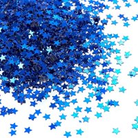 Star Confetti - Metallic Glitter Foil Confetti Star Sequins - Ideal for Balloons, Tables, Art Crafts, Wedding Festival Decor, Bachelorette Party Supplies, DIY Decorations - Blue, 0.1 inches, 7-Ounce